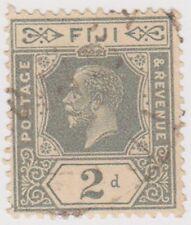 Stamp (F7)Fiji 1912 2d Grey fine used SG233