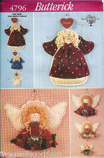 Butterick 4796 Craft Angel Peace Wall Hanging Pattern UNCUT FF handpainted faces