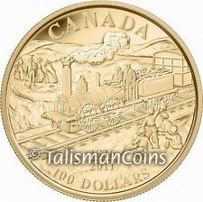 Canada 2011 Dorchester 0-4-0  Steam Locomotive 175th Anniversary $100 Gold Proof