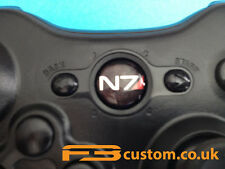 Custom XBOX 360 * Mass Effect 3 * N7 Logo * Guide button