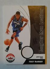 2001 Fleer Shoebox Tracy McGrady Tougher Than Leather Game Worn Shoe #'d 83/100!