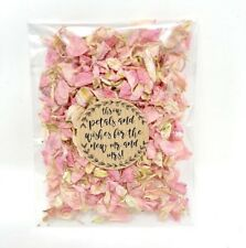 Pink Dried Biodegradable Wedding Confetti Petal Bag Packet Flutter Fall 2 guests