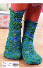 ~ Knitting Pattern For Lady's Lovely Scalloped Cuff Socks  ~