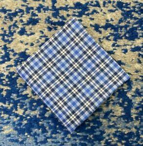 Blue White Cotton Check Pocket Square Handkerchief Neckerchief Bandana