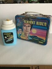 Vintage 1982-83 Knight Rider Lunch Box &  Thermos Metal Lunch Box w/ Thermos