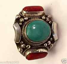 925 Sterling Silver Tibetan Style Handmade  Ring in Nepal Size 8
