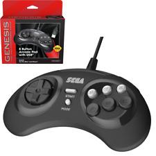 Retro-Bit Official Sega Genesis 8 Button Arcade Pad USB Controller for PC/Mac
