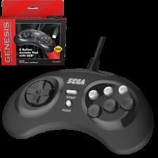 Retro-Bit официальных Sega Genesis 8 кнопка Arcade Pad Usb контроллер для PC/Mac