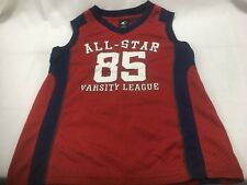 Boys Tank Top Size 6 / 7 100% Polyester Basketball Jersey Starter Red Blue White