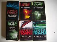 6 x Andreas Franz (KALTER SCHNITT FÄNGER TÖDLICHER ABSTURZ TODESMELODIE ...)