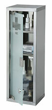 WALL MOUNTED LOCKING MEDICINE CABINET FIRST AID CUPBOARD OFFICE HOME LOCKABLE