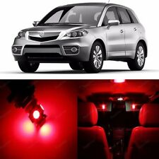 10 x Red LED Interior Lights Package For 2007 - 2012 Acura RDX + PRY TOOL