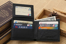 Men's RFID Protected Genuine Leather Wallet Business Purse ID Credit Card Holder