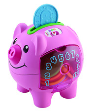 Fisher-Price Smart Stages Piggy Bank, Baby Electronic Educational Toy with Songs