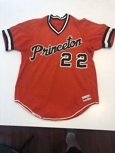Game Worn Used Princeton Tigers Baseball Jersey Size 42 #22