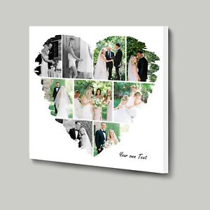 Design your own Heart Shape 9 photo Collage with our online template Mothers Day