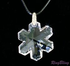FROZEN SNOWFLAKE CRYSTAL NECKLACE. BRANDED AUSTRIAN LEAD CRYSTAL PENDANT CHAIN!