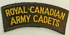 Canada RCAC Royal Canadian Army Cadets Shoulder Patch 4 Inches #4507