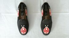 """RARE! Men's $525 Stubbs & Wootton Needlepoint """"LADYBUG Loafers Slippers Shoes 8"""