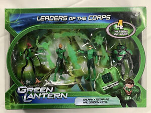 "Green Lantern Action Figure 4-Pack 4"" Leaders of the Corps set with Power Ring"
