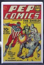 "Pep Comics #1 Comic Cover 2"" X 3"" Fridge / Locker Magnet. Shield Debut"