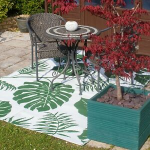 Valiant Outdoor Patio and Decking Rug - Leaf Green - Various Sizes