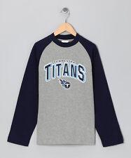 Tennessee Titans Boy's Navy & Heather Long Sleeve Tee (Medium) NWT