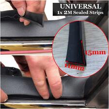 Black 2M Auto Car Door Edge Rubber Weatherstrip Noise Sealing Strip Trim Molding