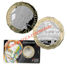 5 EURO ITALIA 2020 EDUARDO DE FILIPPO GRANDI ARTISTI ITALIANI IN FOLDER ORIGINAL