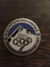 OLYMPISCHE WINTER SPIELE GARMISCH-PATENKIRCHEN 1936 Emaillierte Anstecknadel Pin