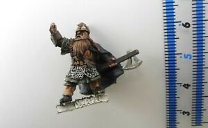 DWARF COMMAND CAPTAIN Metal Lord of the Rings LOTR Good Dwarfs Army Warhammer 12