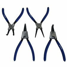 "7"" / 175mm Circlip Pliers Circlips Set Internal And External Bent Straight 4pc"