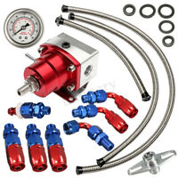 UniversaL Adjustable Fuel Pressure Regulator + 160PSI Oil Gauge AN 6 Fitting Kit