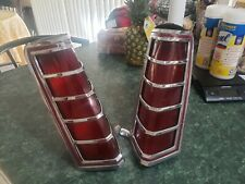 OEM VINTAGE 1977-1979 LINCOLN MARK V REAR TAIL LIGHT SET WITH HOUSING