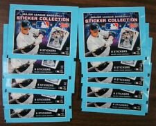 (10) 2018 TOPPS MLB STICKERS COLLECTION 10 PACKS WITH 8 STICKERS PER PACK NEW