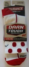 New Pair Darn Tough 1753 Micro Crew Non Cushion Mens Sock XL White Red Polka Dot