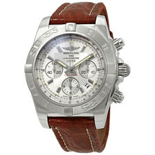 Breitling Chronomat 44 Chronograph Automatic Silver Dial Mens Watch AB011011-G68
