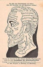 Werbe Postkarte Gesichter sprechen Carl Huters Menschenkenntnis