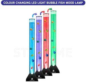 Extra Large 90cm Colour Changing LED Sensory Bubble Tube Lamp Black Fish Water