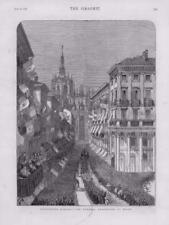 1873-antica stampa ITALIA MILANO Alessandro Manzoni Funerale poeta romanziere (028)