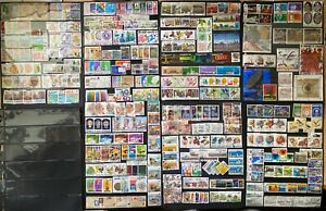 Singapore Collection of 100+ complete sets, >350 stamps all different  from FDCs