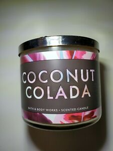 Bath and Body Works Coconut Colada Candle 14.5 oz 3-WICK New