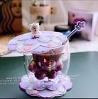 2020 Purple Sakura Cup Starbucks Coffee Glass Mug Stir Rod Stick W/Coaster+Lid