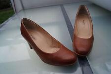 PAUL GREEN Damen Schuhe Pumps High Heels Leder mit Absatz Gr.5 / 38 braun TOP *