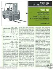 Fork Lift Truck Brochure - Clark - C500 100 - 10,000 lbs - c1975 (LT131)