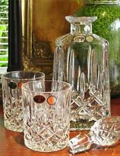 "Beautiful Bohemia Crystal ""ANTIQUE"" Decanter plus Pair of Tumblers, large. NEW"