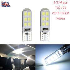 T10 COB 3528 W5W 184 192 12LED Luz De La Cola Parada de señal de vuelta DRL luz blanca de cuña