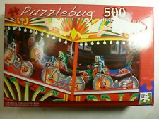 "Puzzlebug Colorful Fiarground Ride Jigsaw Puzzle 500 Pc 18.25"" x 11"""