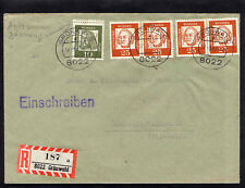 Bund BdD 353 waager.Paare Brief, portogerecht, sehr selten