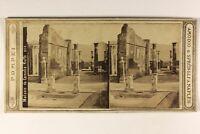 Italia Pompei Casa Foto Amodio & Sprüngli Stereo Vintage Albumina c1865